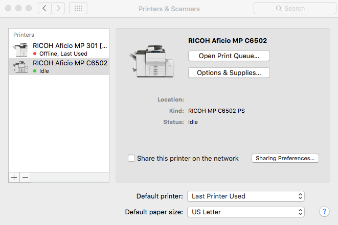 Adding an IP Printer on a Mac OS X – JOEY Support
