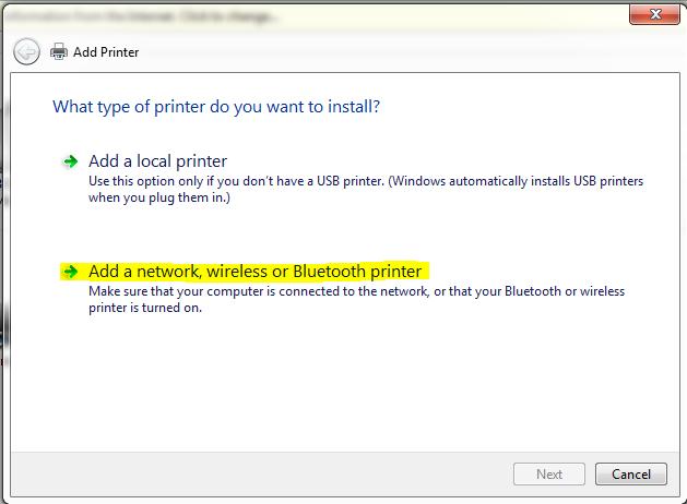 Adding an IP Printer on Windows – JOEY Support
